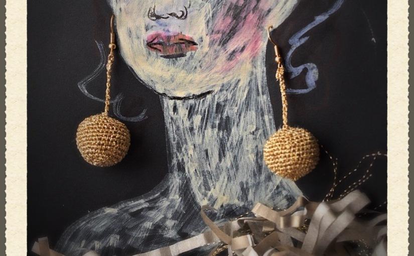 Glitter ball earrings