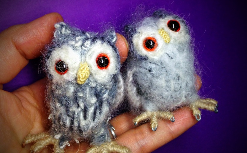 Tiny White Faced Owl – Free pattern/step bystep