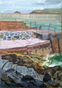 Twilight hour on Smeaton's pier, St Ives