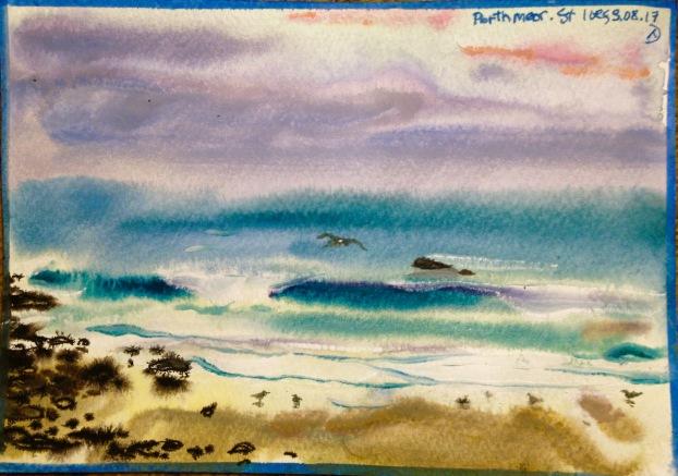Porthmeor beach.
