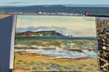 Isle of Wight from the Highcliffe beach